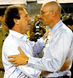 HLV Constantine và cựu danh thủ Zico (Brazil)