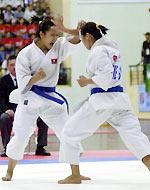 Một trận đấu của bộ môn Karate. Ảnh: Anh Tuấn