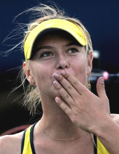 Hình ảnh thành công của Sharapova đang là khích lệ cho giới trẻ Nga.