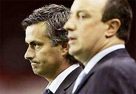 Mourinho và Benitez, chẳng ai vui.