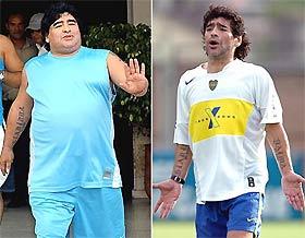 Maradona giảm cân, và trở lại lối sống tích cực.