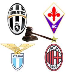 Juve, Milan, Fiorentina và Lazio đều được giảm án sau phiên tòa phúc thẩm.