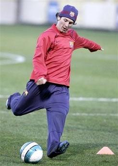 Cầu thủ trẻ hay nhất thế giới 2005 mới trở lại luyện tập.