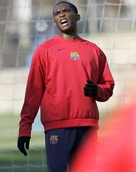Chán tập suông, Samuel Eto'o chỉ muốn xông pha trận mạc cho dù cảm giác bóng cũng như thể lực chưa hồi phục đầy đủ.