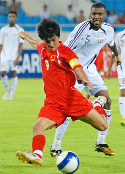 Công Vinh đã thi đấu với phong độ không cao ở trận trước.