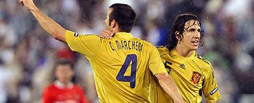 Marchena - Puyol có lẽ là cặp trung vệ hay nhất tại Euro.