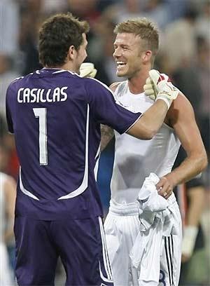 Casillas từng là đồng đội của Becks.