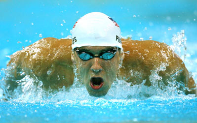 Michael Phelps. Ảnh: Xinhua