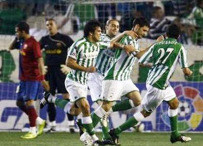 Với Betis, hòa Barca cũng là thành công. Ảnh: AP.