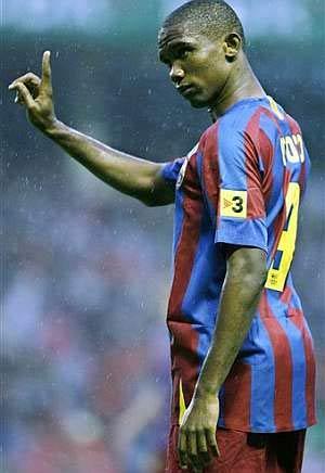 Samuel Eto'o có khả năng dứt điểm cực tốt trong khu vực 16 m50.