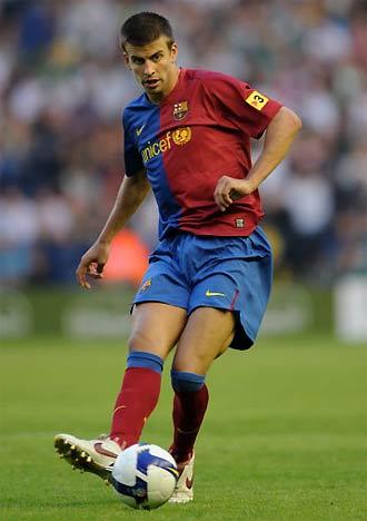Pique là trụ cột của Barca trong mùa giải đoạt cú ăn ba 2008-2009.