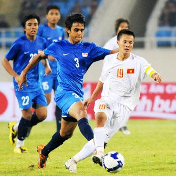 U23 Việt Nam mới thắng Singapore 1-0 ở giải giao hữu tại sân Mỹ Đình hồi tháng 11. Ảnh: Hoàng Hà.