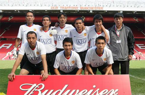 Đội bóng đá mini Việt Nam tại Old Trafford năm 2009.
