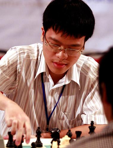 Quang Liêm trong ngày thi đấu đầu tiên. Ảnh: An Nhơn.