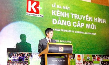 Tổng giám đốc VSTV phát biểu mở đầu lễ ra mắt kênh truyền hình K+1.