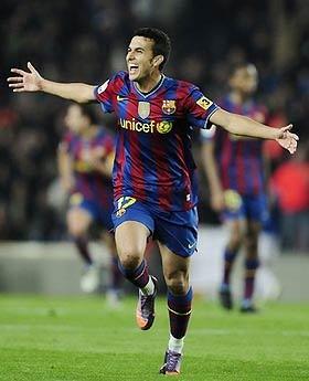 Tiền đạo trẻ Pedro ngày càng trưởng thành.