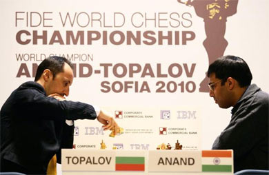 Topalov và Anand thi đấu tại Sofia, Bulgaria.