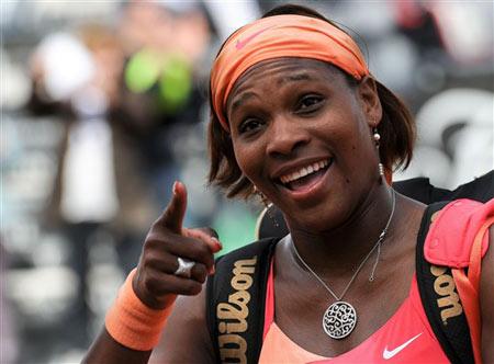 Serena vui mừng sau chiến thắng trước Maria Kirilenko