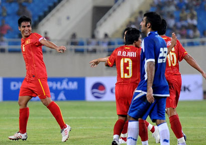 Tuyển Việt Nam coi Cup 1000 năm Thăng Long là cơ hội cọ xát tốt cho AFF Cup vào tháng 12. Ảnh: Hoàng Hà.