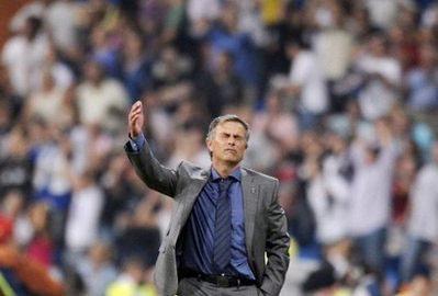 Mourinho trong trận Real thắng Sociedad hôm thứ bảy tuần trước.