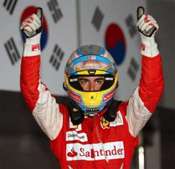 Ferrari phấn khích sau chiến thắng thứ năm của Alonso ở mùa giải năm nay.