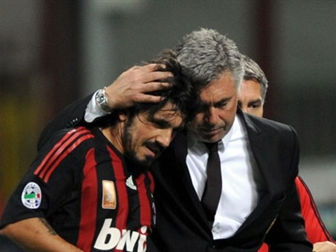 Ancelotti rất ấn tượng với phong độ của Gattuso và Milan. Ảnh: AFP.