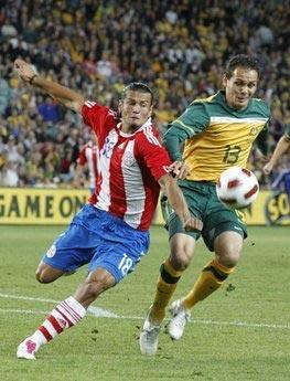 Nelson Valdez trong màu áo tuyển Paraguay.