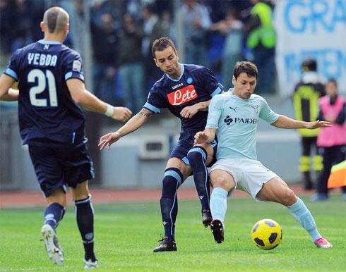 Chiến thắng trước Napoli giúp Lazio cắt đứt mạch toàn thua và khẳng định lại vị thế kẻ thách thức các đại gia trên đường đua scudetto. Ảnh: AFP.