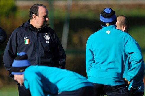 Tương lai của Benitez ở Inter đang nhuốm màu u ám. Ảnh: AFP.