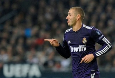 Tiền đạo Benzema của Real.