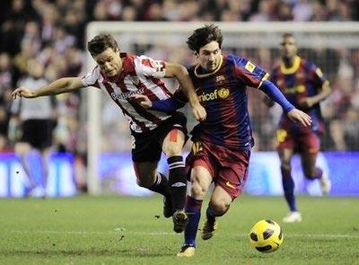 Messi trong trận hòa Bilbao tối thứ tư.