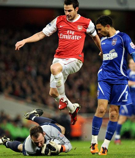 Đây mới là lần đầu tiên sau 4 năm, Arsenal vượt qua bán kết Cup Liên đoàn. Năm 2007, họ thua Chelsea 1-2 trong trận chung kết. Ảnh: AFP.