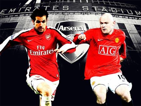 Cơ hội đang thuộc về Arsenal (trái) và MU.