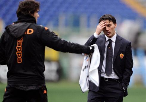 Đã đem lại những biến chuyển tích cực, nhưng Montella vẫn còn rất nhiều thách thức phải vượt qua nếu muốn đưa Roma trở lại nhóm đầu bảng. Ảnh: AFP.