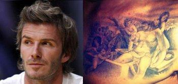 Beckham và hình xăm mới.