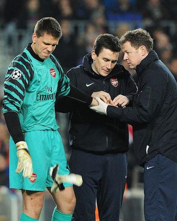 Szczesny được xem là thủ môn tốt nhất của Arsenal hiện nay. Ảnh: AFP.
