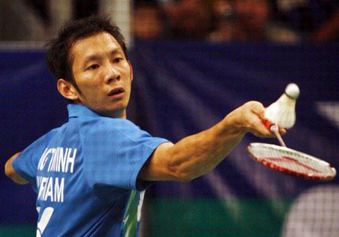 Nguyễn Tiến Minh gặp Lindan ở tứ kết giải đấu ở Anh. Ảnh: An Nhơn.