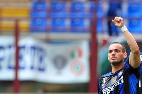 Chiến thắng là phần thưởng xứng đáng cho nỗ lực và bản lĩnh của Inter. Ảnh: AFP.
