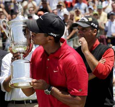 Woods với chức vô địch US Open năm 2008.