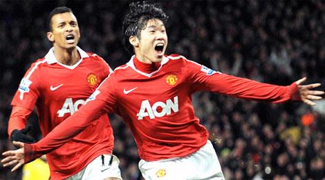 Park Ji-sung trong màu áo MU. Ảnh: AFP.