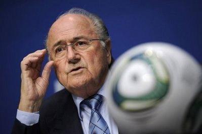 Chủ tịch đương nhiệm của FIFA, Blatter.