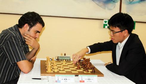 Quang Liêm đang dẫn đầu tại giải Cuba. Ảnh: Minh Châu.
