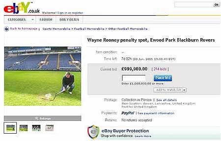 Mẩu tin rao bán trên eBay.