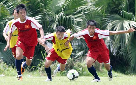 U23 Việt Nam đang tích cực tập luyện. Ảnh: K.N.
