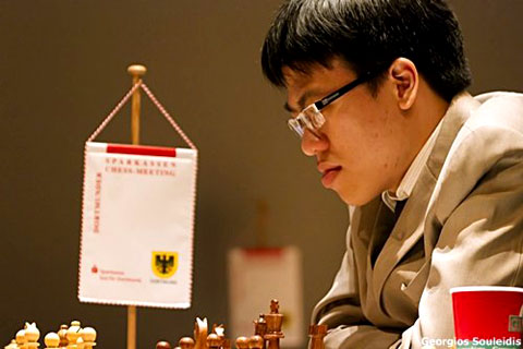 Lê Quang Liêm tại giải. Ảnh: Georgios Souleidis.