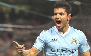 Aguero có màn ra mắt ấn tượng.