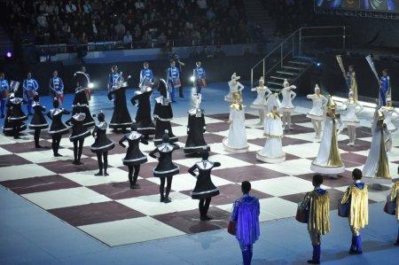 Lễ khai mạc Olympiad cờ vua năm ngoái tại Khanty Mansiysk.