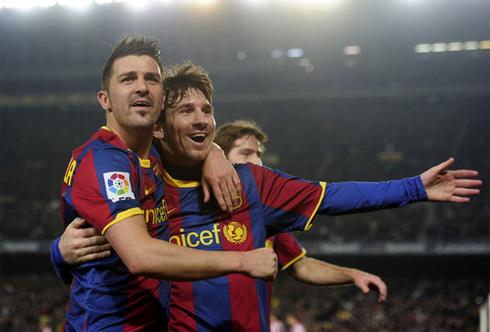Villa và Messi sẽ dẫn đầu hàng công Barca.