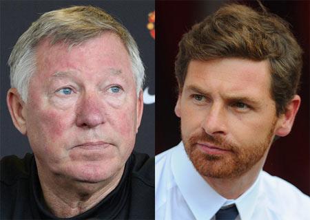 Sẽ là một cuộc đối đầu thú vị giữa một Ferguson lão luyện (trái) với một Villas-Boas trẻ trung và tài năng.