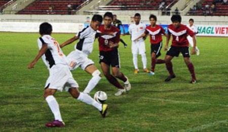 U16 Việt Nam trong trận thắng Campuchia.
